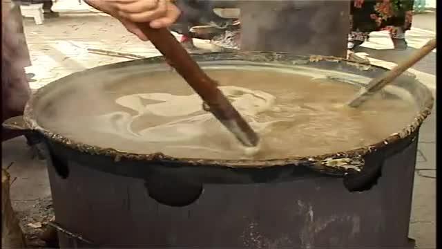 پخت سمنو در تاجیکستان