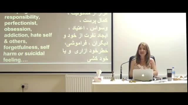 Dr. Mitra babak,  سمینار لندن، رفتارها و بیماری های احتمالی انسان مضطرب