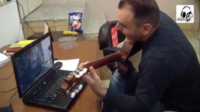 نمونه ای از کلاس های آنلاین آموزش موسیقی توسط وب کم