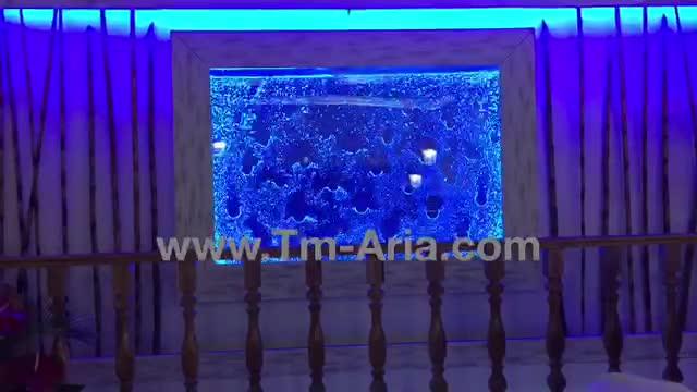 آبنمای حبابی، دیوار شیشه ای حبابدار؛ ابنمای مدرن شیشه ای حباب دار