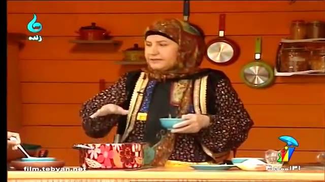 طرز تهیه فرنی سه رنگ توسط خانم رهبر (گیلکی)