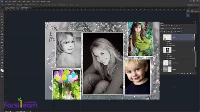 حذف لایه های اضافه از پالت لایه ها (Layers) در نرم افزار (Photoshop)