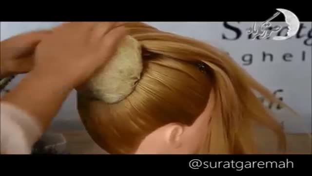 آموزش تصویری مرحله به مرحله شینیون مو به روش پیچ