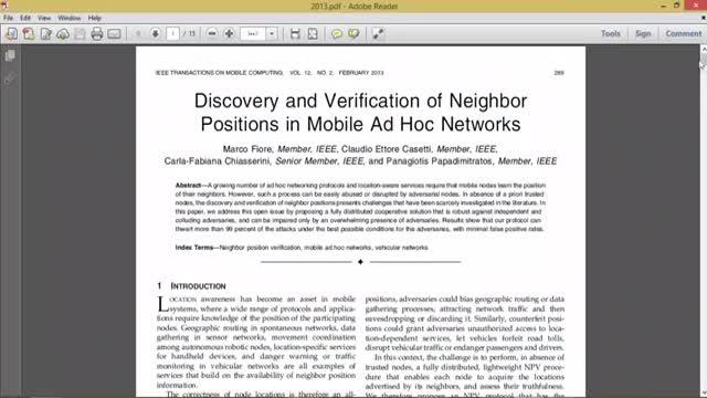 فیلم  شناسایی گره های همسایه در شبکه های adhac