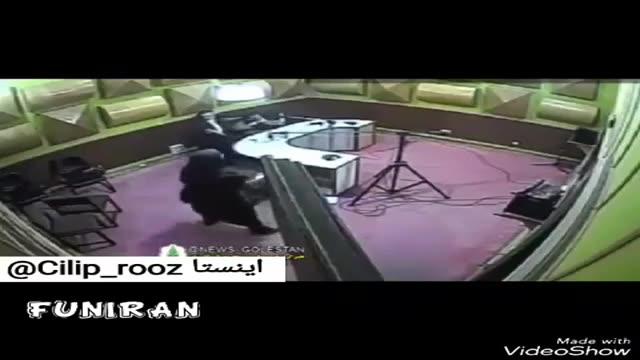 حمله قلبی گوینده خبر رادیو گلستان، حین اجرای زنده