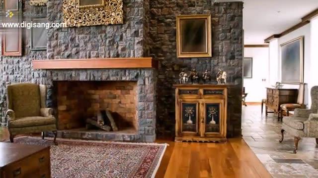 ایده های طراحی منزل با سنگ