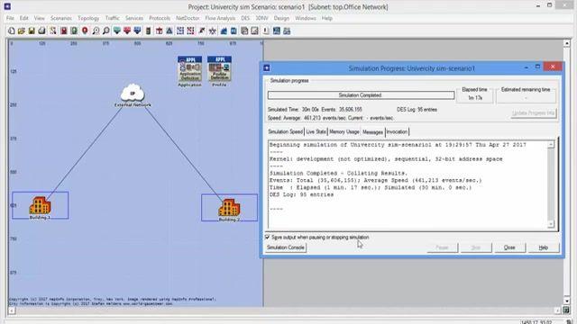 فیلم پروژه شبیه سازی شبکه VLAN دانشگاه با نرم افزار OPNET