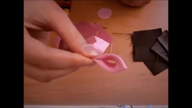 آموزش گل کاظانی، چگونگی ساخت گل های روبان DIY، kanzashi flores de cinta