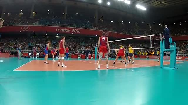 ویدیوی فنی - فینال المپیک 2012 (برزیل - روسیه) - رالی 3