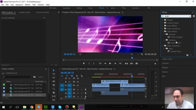 72- افکت Gradiant wipe در Adobe premiere - آموزش پریمیر سعید طوفانی