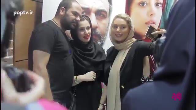 دیدار سحر قریشی با هوادارانش در حاشیه اکران عمومی فیلم آب نبات چوبی