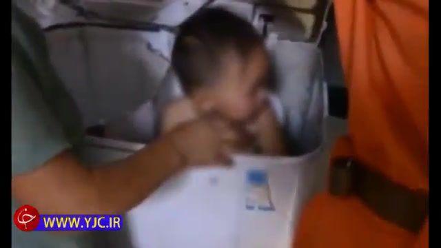 نجات جان بچه 2 ساله در لباسشویی توسط آتشنشانان