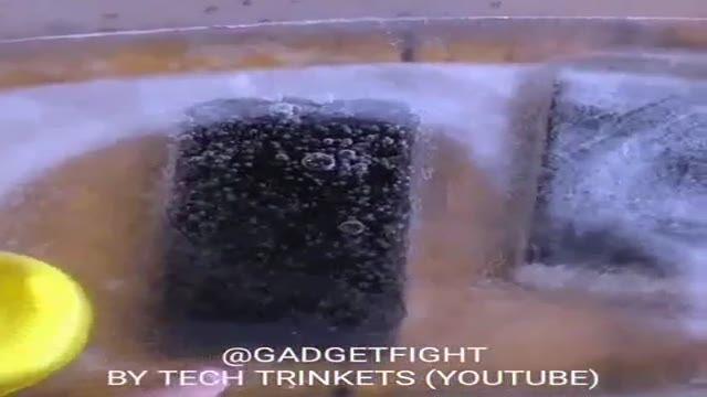 مقایسه مقاومت گوشی گلکسی و آیفون در برابر انجماد