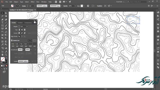 آموزش ساخت افکت نقشه در ایلوستریتور و فتوشاپ