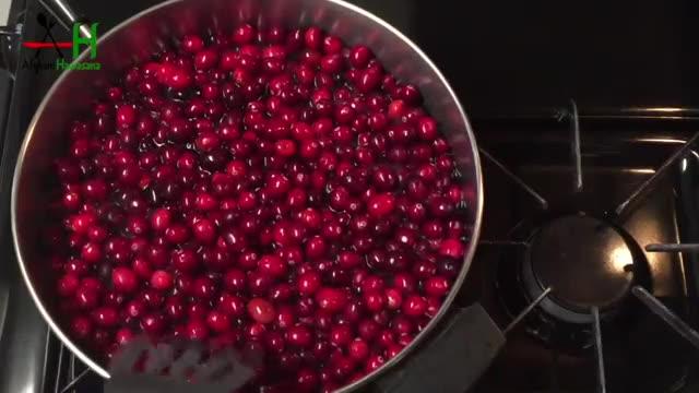 How to make Cranberry sauce [طرز و تهیه مربای کران بری ]