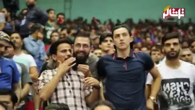 تماشاگر // گفتگوی تماشاگر با ستاره های سینما و فوتبال در سالن 12 هزار نفری