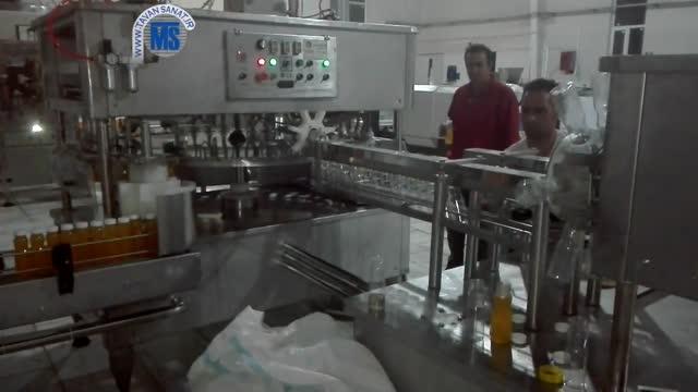 تری بلوک بطری آب میوه مجموعه بطری شویی پرکن و درب بند تمام اتومات ساخت توان صنعت