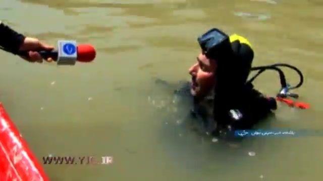 خطر غرق شدگی به دلیل تغییر عمق جریان آب و زباله های بستر کارون
