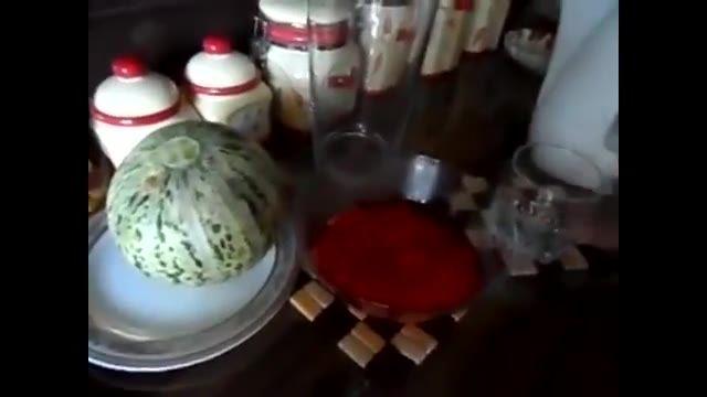 آشپزی از اینجا تا آنجا  -Desserts, jelly melon  دسر ژله طالبی