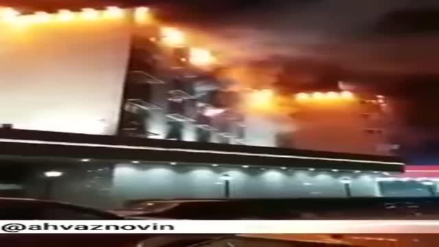 فیلم  وحشتناک  آتشسوزی در هتل پارس اهواز که  مهار شد -خبر فوری