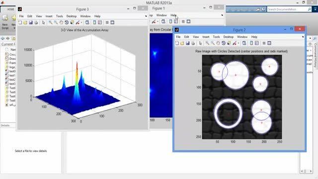 فیلم پروژه تشخیص دایره در تصویر با تبدیل هاف در MATLAB