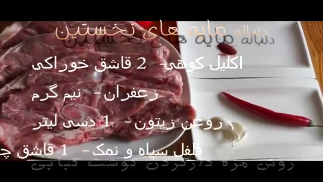 گوشت کبابی - روش مزه دارکردن و ماریناد گوشت کبابی  | How to make best marinate meat