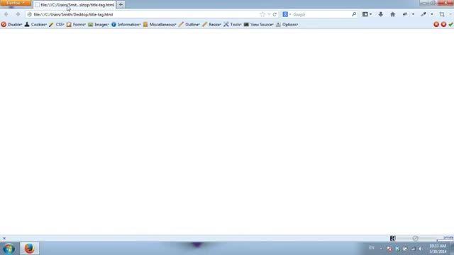 آموزش طراحی سایت با html | آموزش ایجاد عنوان (title) برای صفحات وب