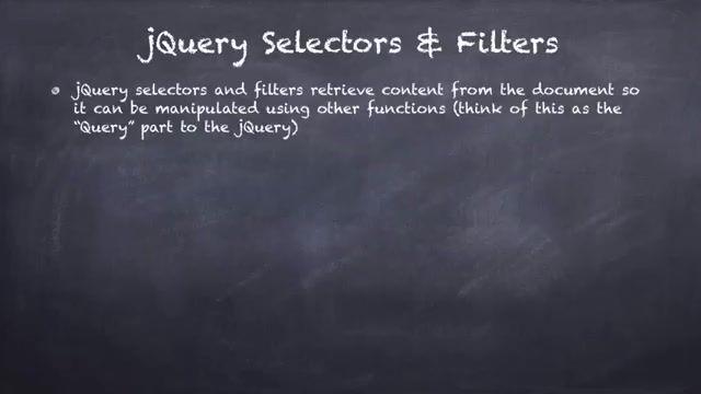 5- سلکتور و فیلتر در جی کویری jQuery