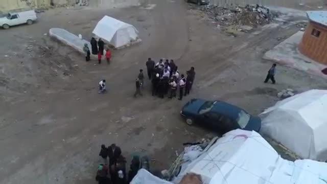 نمای هوایی از آخرین وضعیت مردم زلزله زده ی کرمانشاه