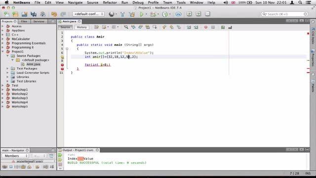 24- درست کردن جدول با آرایه ها در جاوا Java