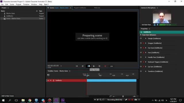 8- قسمت هشتم- رکورد صدا - آموزش Adobe Character Animator - سعید طوفانی