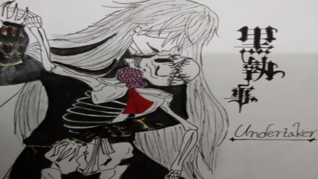 نقاشی من ازUndertaker در انیمه خادم سیاه