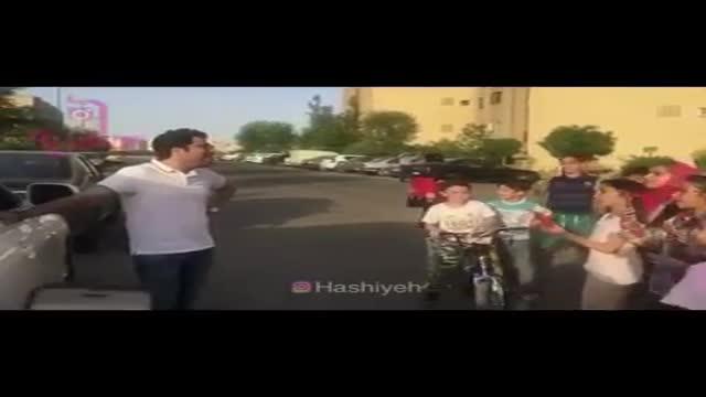 اجرای حامد همایون تو خیابان برای بچه ها