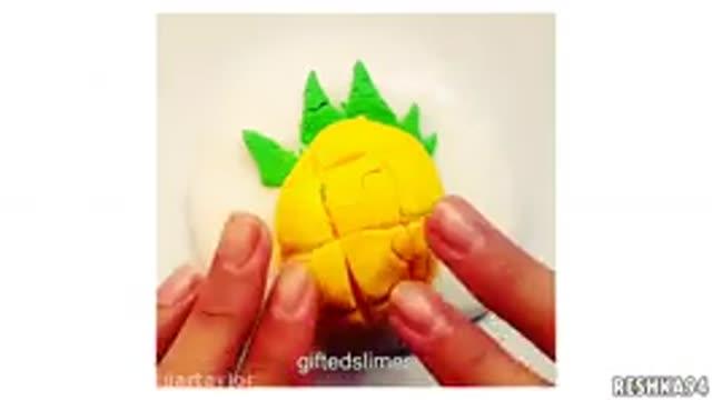 ترکیب اسلایم با شن بازی