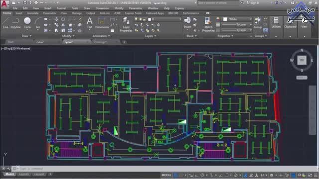 آموزش ترسیم با AutoCAD (نقشه کشی برق ساختمان)