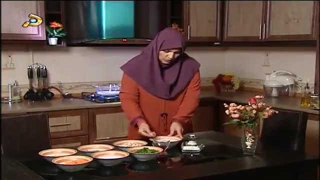 Amozesh soup gharch آموزش تهیه سوپ قارچ و ذرت