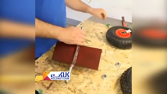 آموزش ابتکاری فوق العاده در ساخت وسیله ایی برای حمل وسایل بزرگ و سنگین در کارگاه