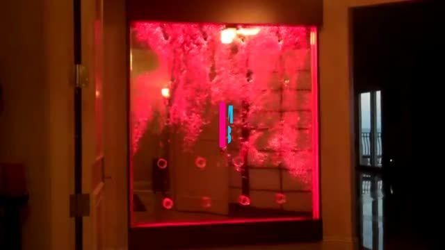 دیوار حبابی ریتمیک، حباب نمای موزیکال، آب نمای حبابی مدرن