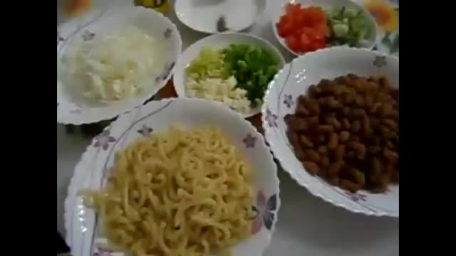 آشپزی از اینجا تا آنجا - سالاد لوبیا و ماکارونی Pasta salad