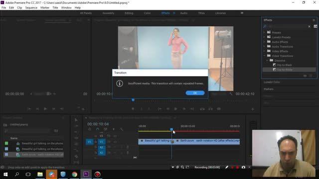 65- سعید طوفانی - Adobe premiere - افکت Dip و EQ در پریمیر
