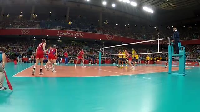 ویدیوی فنی - فینال المپیک 2012 (برزیل - روسیه) - رالی 2
