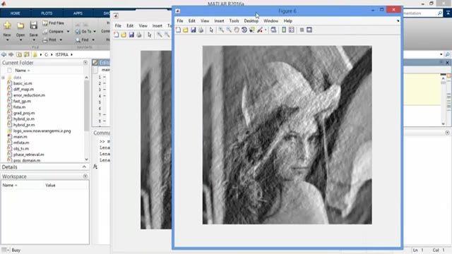 فیلم پروژه حذف نویز از تصویر با الگوریتم پروگزیمال در MATLAB