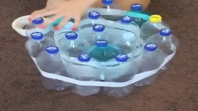 ساخت صندلی با 10 بطری پلاستیکی