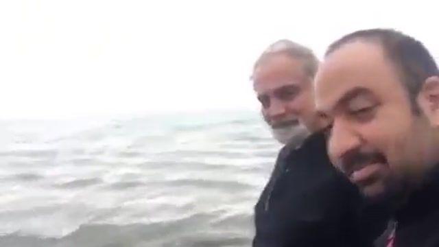 راه رفتن علی معلم و علی اوجی بر روی آب / Ali Moallem & Ali Oji