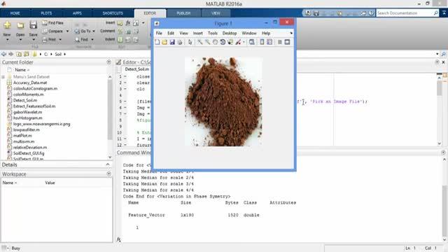 فیلم پروژه تشخیص و طبقه بندی انواع خاک در نرم افزار MATLAB
