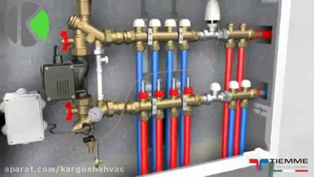 اتصال همزمان گرمایش از کف و رادیاتور به پکیج