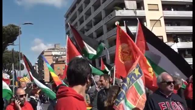 تظاهرات ضد صهیونیستی در رم