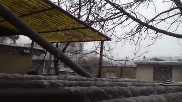 برف بهاری سنندج