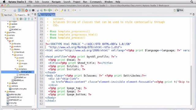 9- قالب HTML در Drupal دروپال