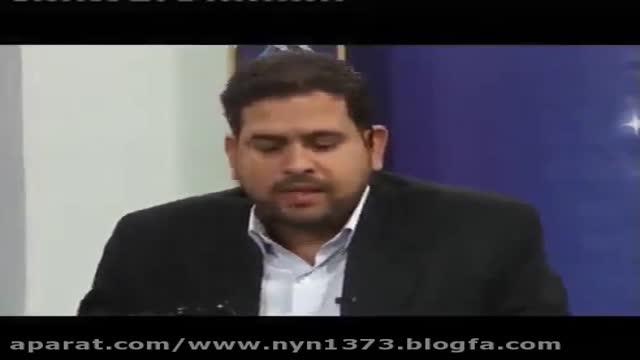 رسوایی تاریخی عقیل هاشمی (کارشناس وهابی) در آنتن زنده / وقتی تصویری از لپ تاپ نش